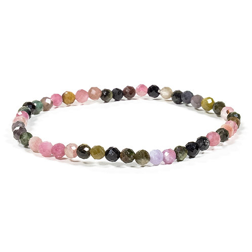 Bracelet Tourmaline Multi facetté 4mm