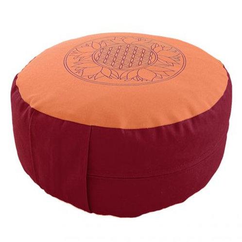 coussin de méditation orange/rouge