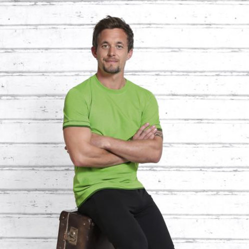 t-shirt homme vert