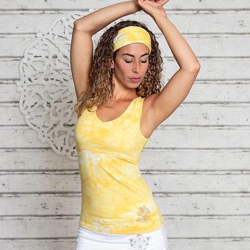 débardeur batik jaune