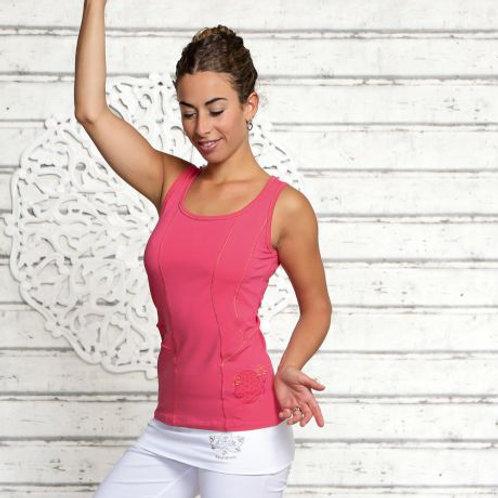 yoga top rose mauve