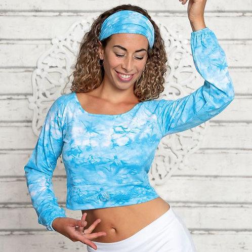 top manche longue batik bleu