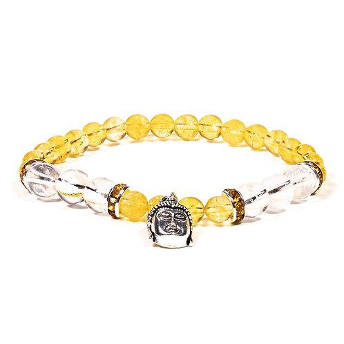 Bracelet Citrine Chauffé et Cristal