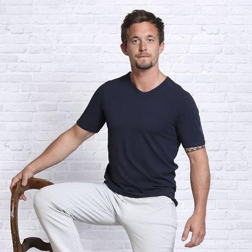 t-shirt homme bleu marin