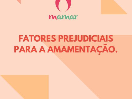 FATORES PREJUDICIAIS PARA A AMAMENTAÇÃO.