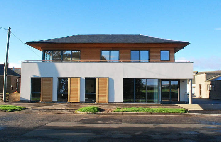 New build office at traill drive by Kerry Smith Architects in Montrose, Angus, we can provide a full range of professional architectural services to see your project through from inception and initial design to construction and completion
