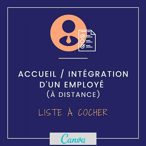 Accueil et intégration : liste à cocher (personnalisable)