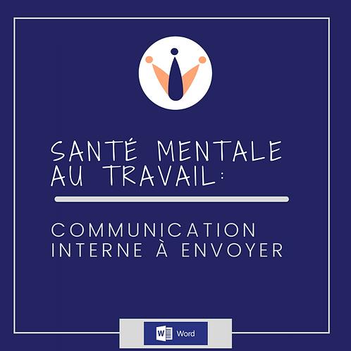 Exemple de communication interne - santé mentale (Word)