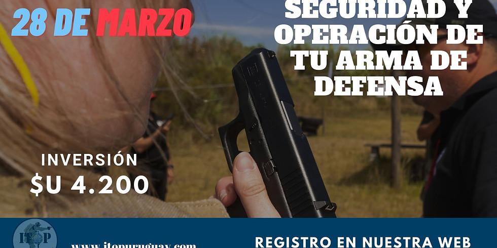 Seguridad , operación y manipulación de tu arma de defensa