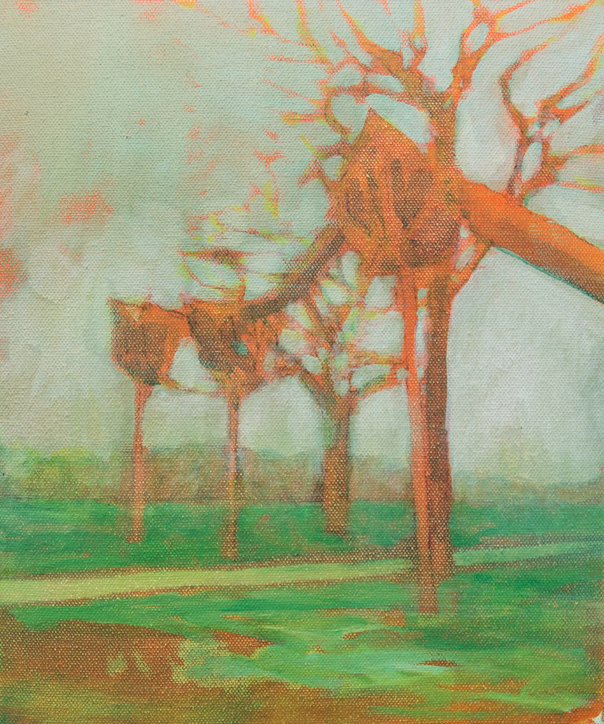 PS1542 pp tree walk, 30 x 25cm, oil on canvas, 2015 email