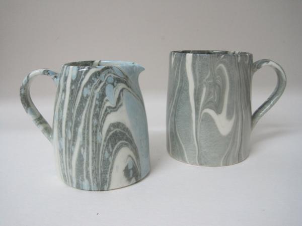 Stockley marbled jug and mug