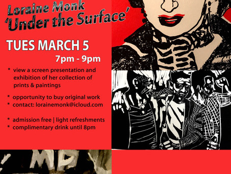 Hawks Road artist Loriane Monk  has a solo show through March