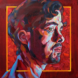 Brad Kenny - 'Silent Composure' 2017 - oil on canvas - 61cm x 61cm