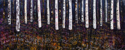 No Picnic mixed media on canvas