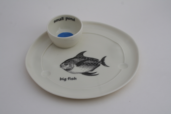 Stockley big fish small pond plate
