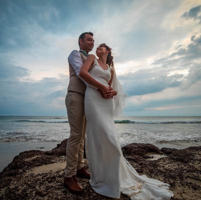 Elton & Joanna Beach Wedding at La Cabana Resort & Spa Goa