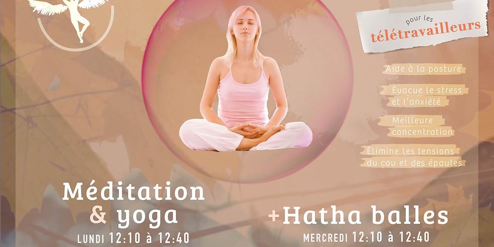 Méditation & Yoga + Hatha balles