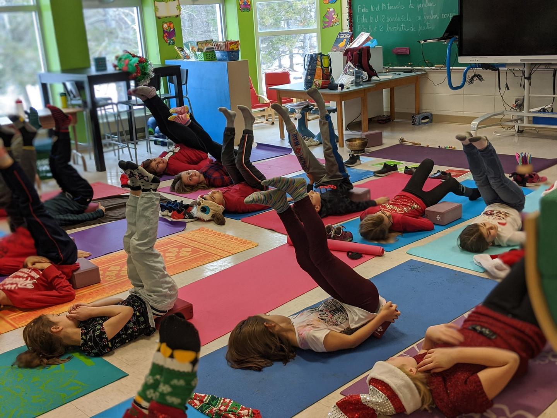 inversion pour enfant yoga