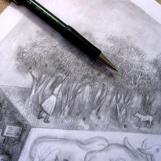 Fragmento de un pequeño bosque. Detalle