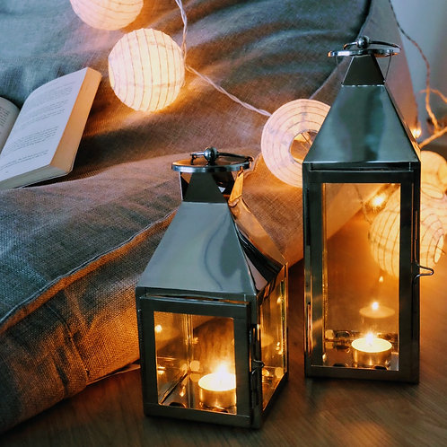 Stainless Steel Lantern Set