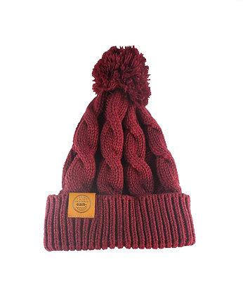 Maroon Chunk Knit Beanie