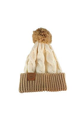 Cream Chunk Knit Beanie
