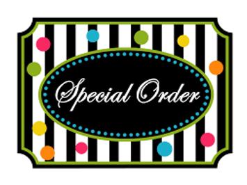 SOR001 - SPECIAL ORDER