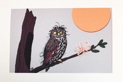 FA012 - OWL WITH MOON