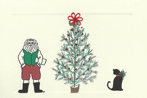HY061 - SANTA/CAT/TREE