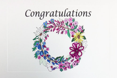 GR081 - CONGRATS WREATH
