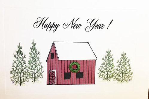 GR074 - HAPPY NEW YEAR BARN