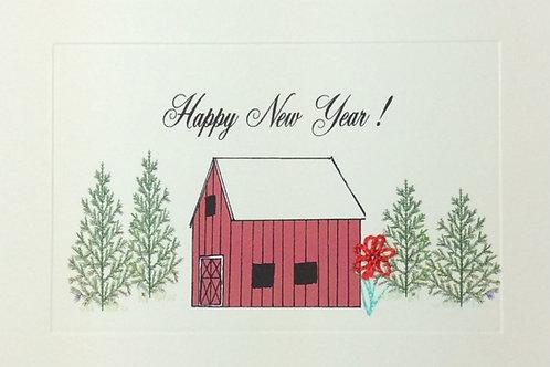 HY055A - HAPPY NEW YEAR BARN