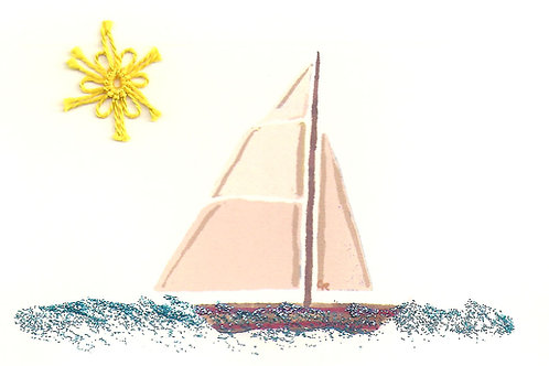 MS017A - TAN SAIL BOAT