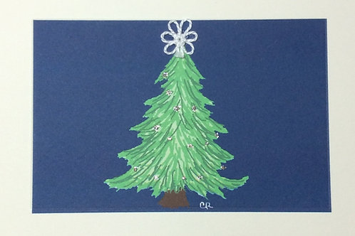 HY016 - TREE ON BLUE