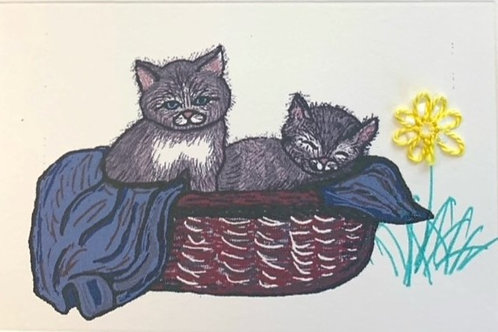 CT022 - KITTENS IN A BASKET