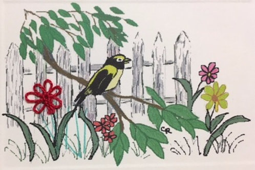 BD011 - BIRD/FENCE