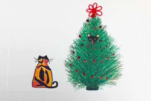 HY087 - CAT IN TREE