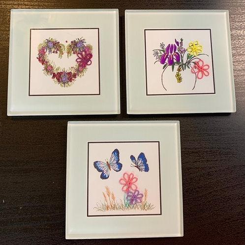 CSF002H - FLORAL TRIO OF WALL ART