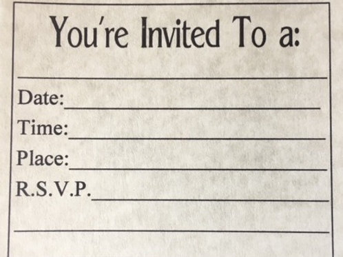 IN001 - INVITE INSERTS - PACKAGE OF 5