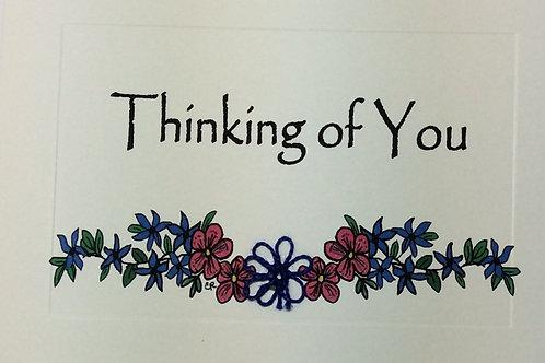 GR092 - BLUE & PINK FLOWER VINE THINKING