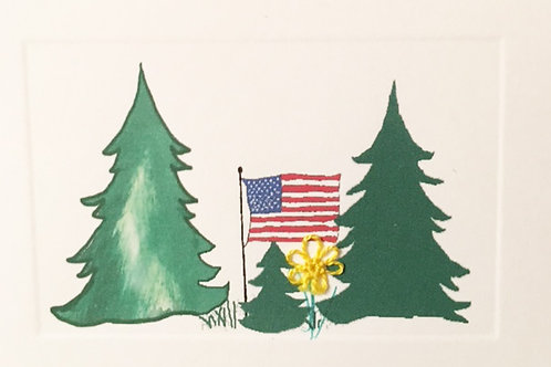 HY067 - TREES AM FLAG
