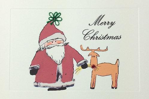 HY013B - SANTA & REINDEER MERRY CHRISTMAS