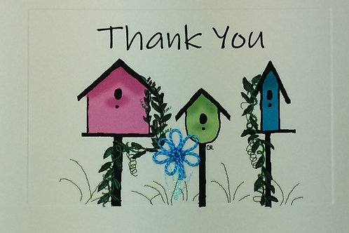 TY033 - SPRING BIRDHOUSES THANK YOU