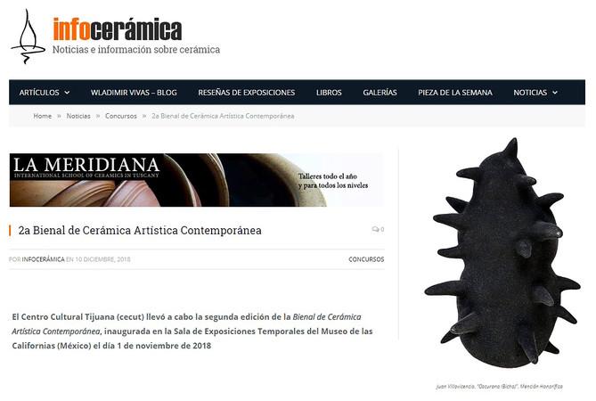 Infocerámica / 2da bienal de cerámica artística contemporánea
