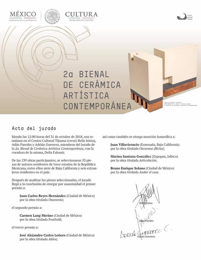 2da Bienal de cerámica artística contemporánea / Mención Honorifica