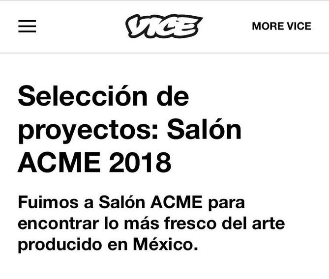 Selección de proyectos: Salón ACME 2018