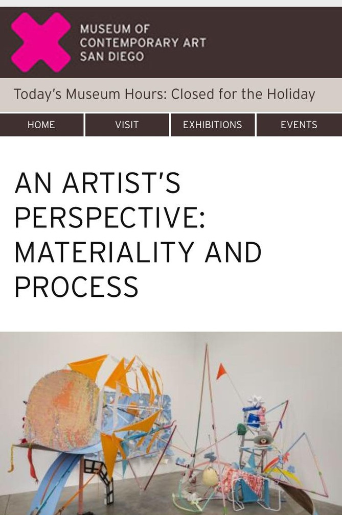 An Artist´s perspective: Materiality and process / MCASD
