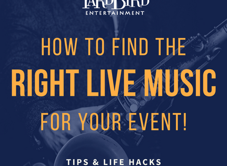 How to Find the Right Live Band or Musician for Your Event