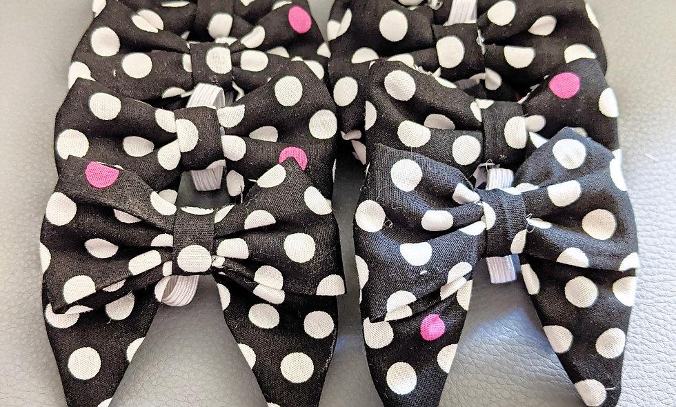 Polkadot Collar Bows