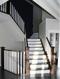 Wood stairs and rail